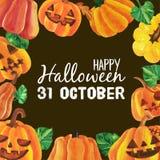 Lycklig halloween tecknad film royaltyfri bild