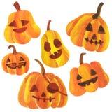 Lycklig halloween tecknad film arkivbild