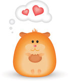 lycklig hamster Royaltyfri Foto