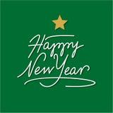 Lycklig handbokstäver för nytt år Arkivbild