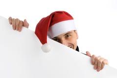 lycklig hattman santa Arkivfoto
