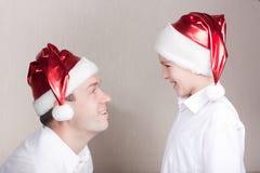 lycklig hattman teen santa Royaltyfria Foton