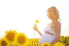 Lycklig havandeskap Arkivbilder