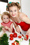 lycklig hemmafru Royaltyfria Bilder
