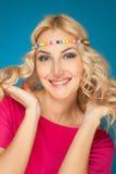 lycklig hippy för flicka Royaltyfri Foto
