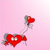 lycklig hjärta Arkivfoton