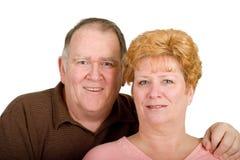 lycklig hjärta för par Arkivbild