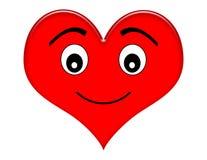 lycklig hjärta för tecknad film Arkivbild