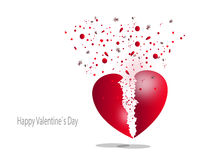 Lycklig hjärta, kort för valentin` s Fotografering för Bildbyråer