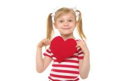 lycklig hjärtared för flicka arkivbilder
