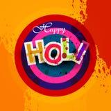 Lycklig Holi för indisk festival färgstänk  Royaltyfri Foto