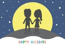 Lycklig holidays15 Arkivbilder
