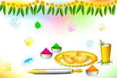 lycklig holiwallpaper stock illustrationer