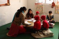 lycklig home skola Fotografering för Bildbyråer
