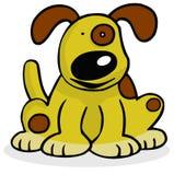 lycklig hund royaltyfri illustrationer