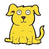 lycklig hund för komisk tecknad film Arkivfoto