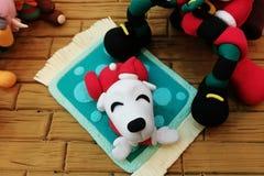 Lycklig hund som göras från polymerlera Royaltyfri Fotografi