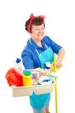 lycklig hushållerska Arkivfoton