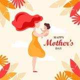 Lycklig illustration för dag för moder` s ferie för eps-mapp för 8 kort greeting bland annat mall Royaltyfria Bilder