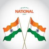 Lycklig illustration för design för mall för vektor Indien för nationell dag vektor illustrationer