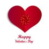 Lycklig illustration för emblem för dag för valentin` s, design för vykort för valentindag enkel med text, begrepp av romans, för Arkivbild