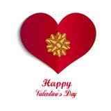 Lycklig illustration för emblem för dag för valentin` s, design för vykort för valentindag enkel med text, begrepp av romans, för Arkivfoton