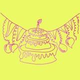 lycklig illustration för födelsedagkort Royaltyfria Foton