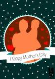 Lycklig illustration för materiel för dag för moder` s Arkivfoto