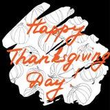 Lycklig illustration för tacksägelsedagvektor Bokstavsmarkerad textnolla för hand Fotografering för Bildbyråer