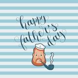 Lycklig illustration för vektor för dag för fader` s arkivbild