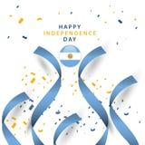Lycklig illustration f?r design f?r mall f?r Argentina oberoende dagvektor vektor illustrationer
