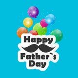 Lycklig illustration för faderDay Poster Card vektor Arkivfoton