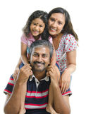 lycklig indier för asiatisk familj Royaltyfri Bild