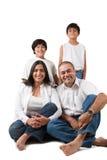 lycklig indier för familj Fotografering för Bildbyråer