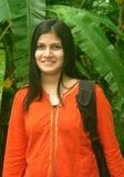 lycklig indisk kvinna Arkivfoton