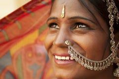 lycklig indisk kvinna Royaltyfri Fotografi