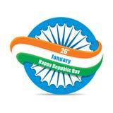 Lycklig indisk republikdag royaltyfri illustrationer