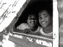 Lycklig infödd Fijiantonår royaltyfria bilder