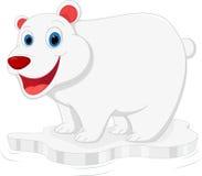 Lycklig isbjörntecknad film royaltyfri illustrationer