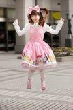 lycklig japansk lolita Arkivbild