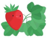 lycklig jordgubbe Royaltyfria Bilder