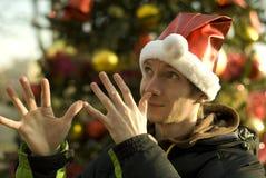 lycklig julälva Fotografering för Bildbyråer
