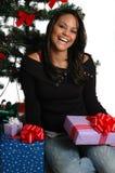 lycklig jul arkivbilder