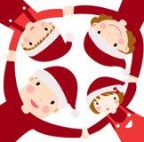 lycklig julfamilj stock illustrationer