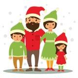 lycklig julfamilj Arkivbilder