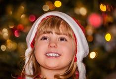 lycklig julflicka Royaltyfri Foto