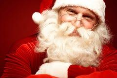 Lycklig jultomten Arkivfoton