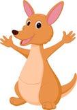 Lycklig kängurutecknad film stock illustrationer