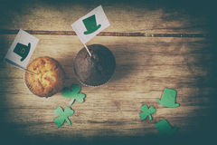 Lycklig kaka för dag för St Patrick ` s Arkivfoto