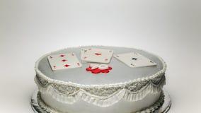 Lycklig kaka för födelsedag 70 Arkivbilder